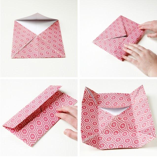 Оригами коробочка для подарка-сложите уголки