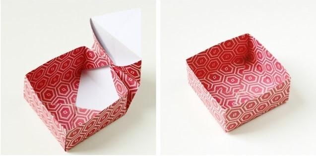 Оригами коробочка для подарка-сформируйте крышечку