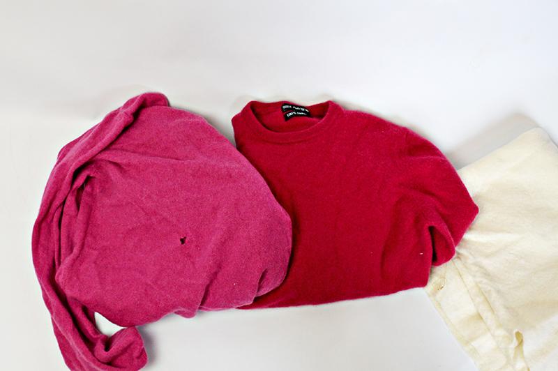 Подушка из старого свитера-материалы