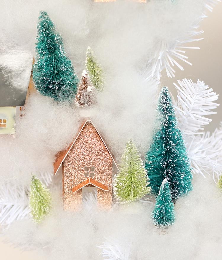 Рождественский венок-вид вблизи