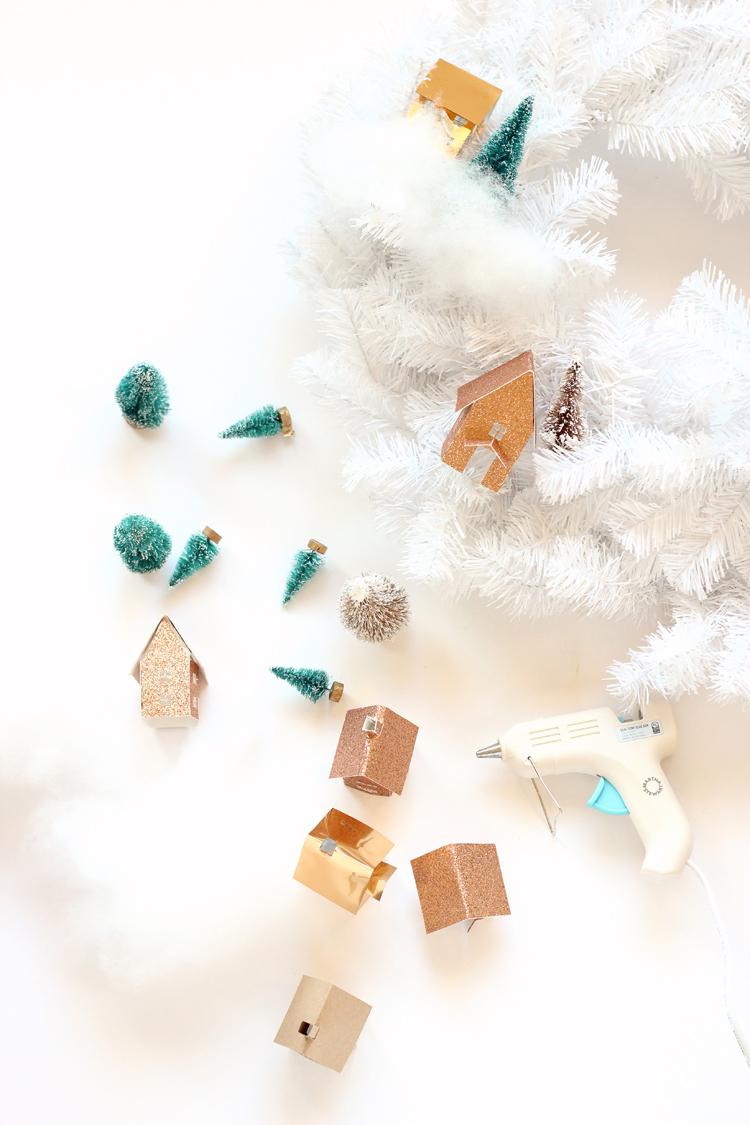 Рождественский венок-начните собирать композиции