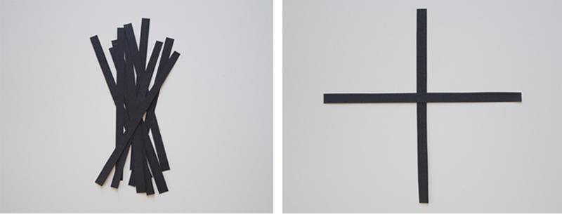 Снежинка из бумажных полос-нарежьте полоски