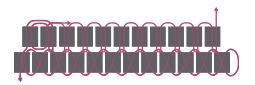 Браслет из бисера для начинающих-схема 3 для второго ряда