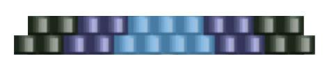 Браслет из бисера для начинающих-цвета для 2 ряда