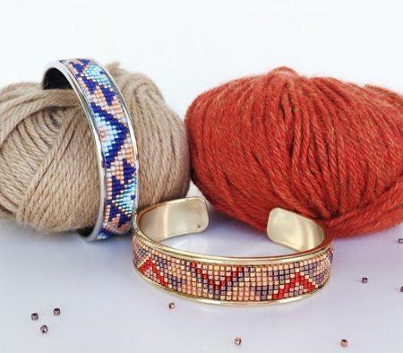 Схема плетения браслета из бисера на станке ваня