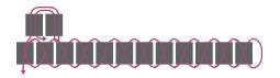 Браслет из бисера для начинающих-схема для 2 ряда