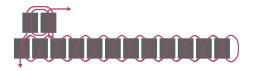 Браслет из бисера для начинающих-схема 2 для второго ряда