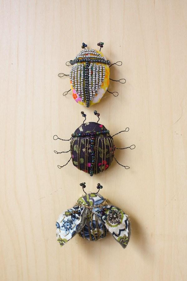 Брошь жук из бисера своими руками