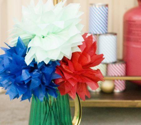 Бумажные цветы для вечеринок