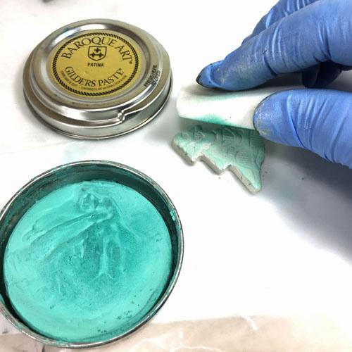 Елочка из полимерной глины-патина