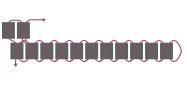 Кулон треугольник из бисера-схема для начала 2 ряда