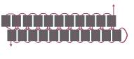 Кулон треугольник из бисера-схема 2 ряда