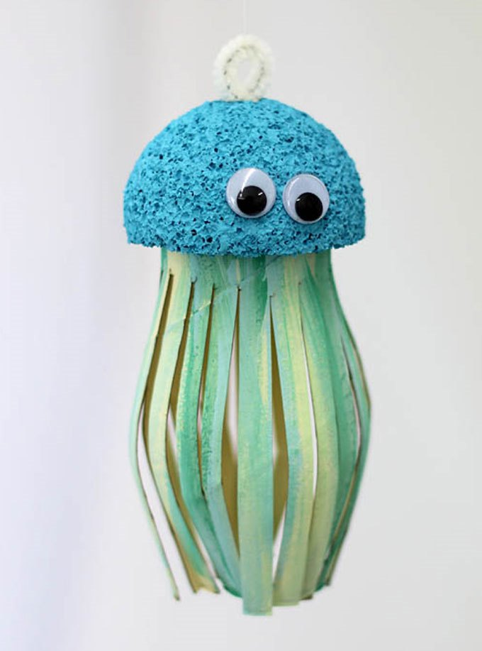 Медуза своими руками из бумаги