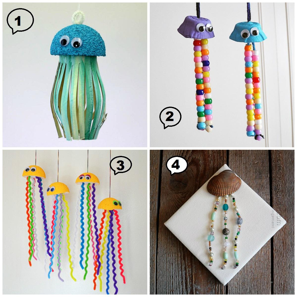 Медуза своими руками-4 варианта изготовления медуз