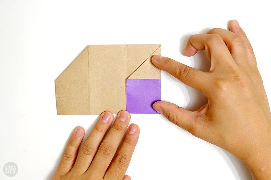 Оригами подставка для яиц-сложите правую закрылку