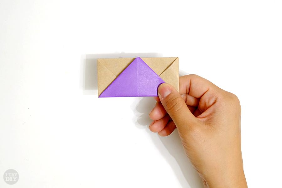 Оригами подставка для яиц-все складки сделаны