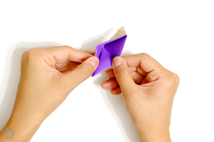 Оригами подставка для яиц-раскройте поделку