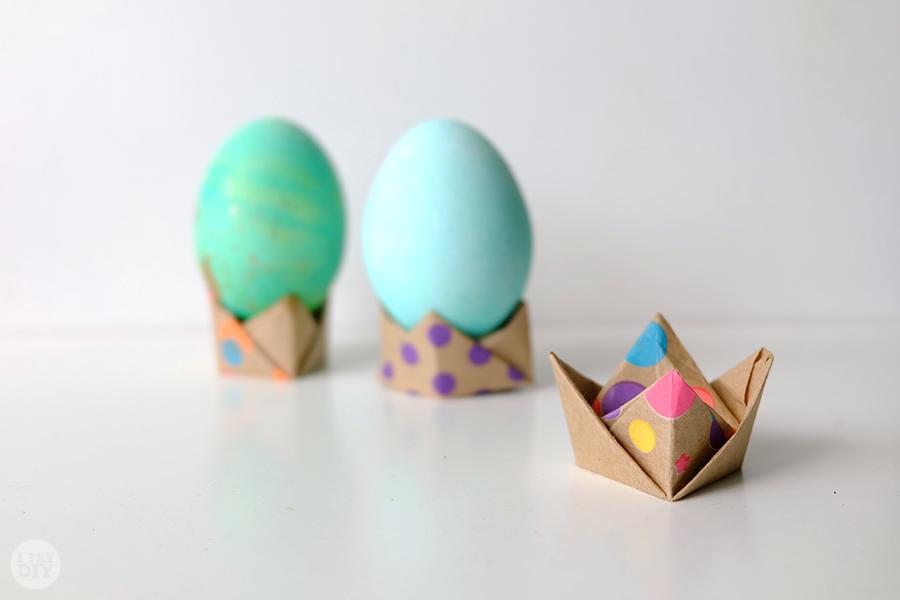 Оригами подставка для яиц своими руками