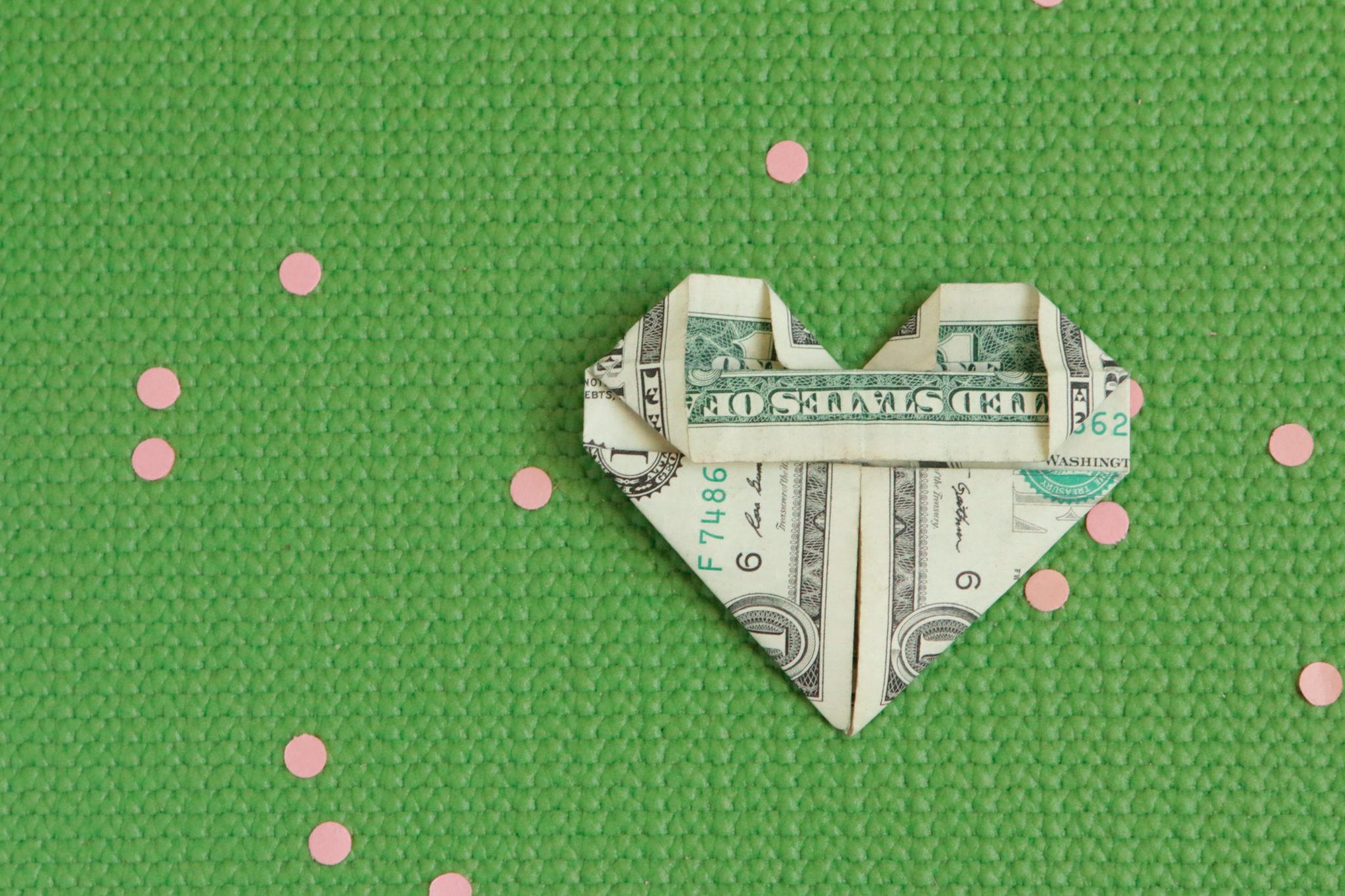 Сердечко оригами-сформируйте центр