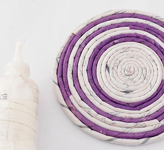 Спираль из трубочек