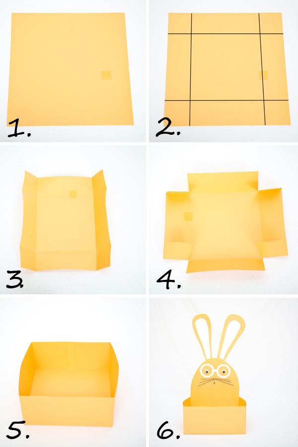 Пасхальные корзинки-сделайте корзинку из картона