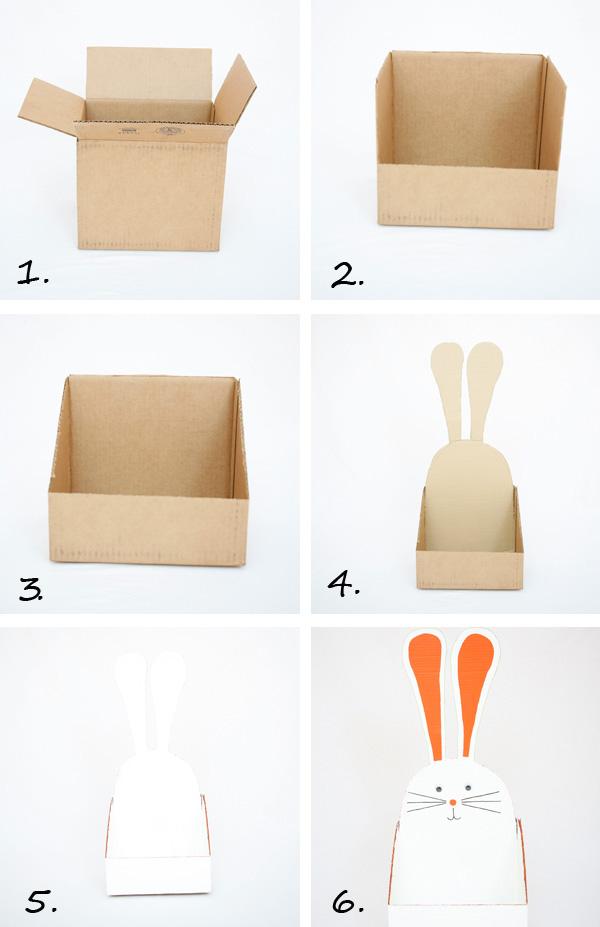 Пасхальные корзинки-сделайте корзинку из картонных ящиков