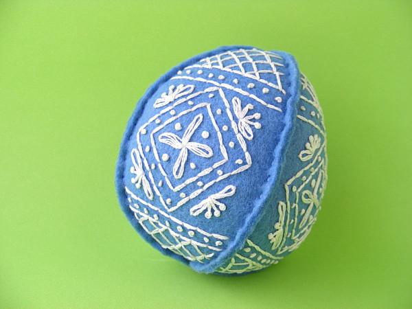 Пасхальные яйца из фетра-классическое яйцо