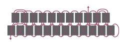 Подвеска из бисера-схема 2 ряда