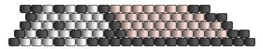 Подвеска из бисера-цвета для 5 рядов