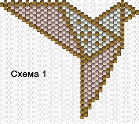 Подвеска из бисера-схема 1