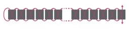 Подвеска из бисера-схема плетения 1 ряда