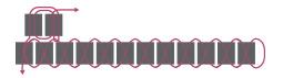 Подвеска из бисера-схема вывода иглы