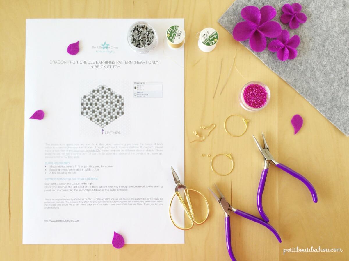 Сережки из бисера-материалы