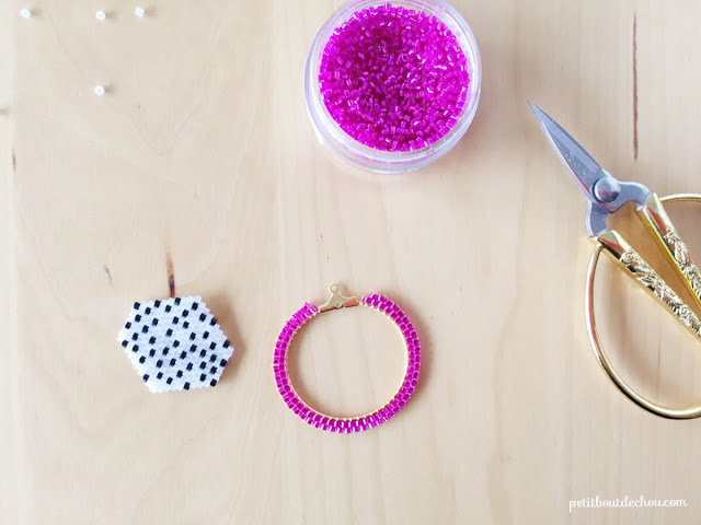 Сережки из бисера-сборка
