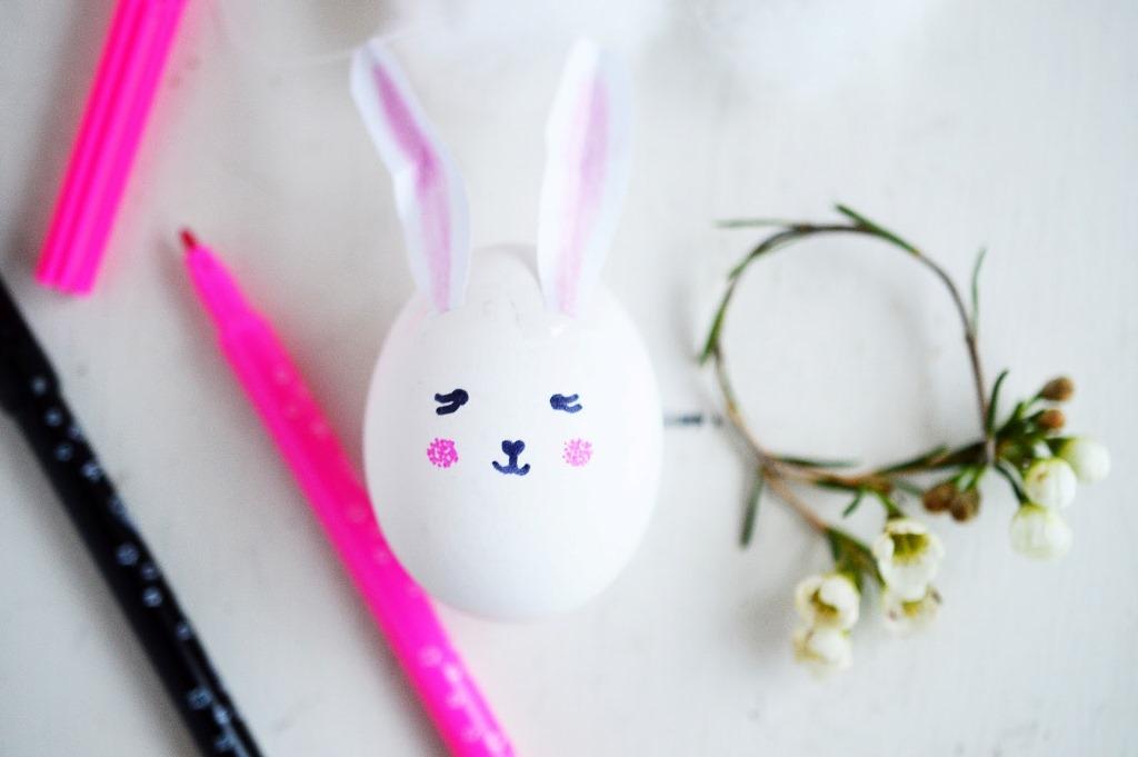 Украшение пасхальных яиц-приклейте уши