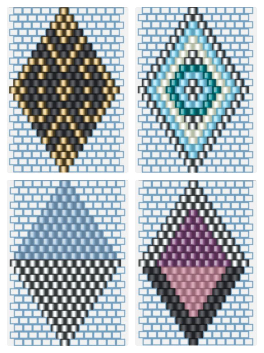 Браслет из бисера для начинающих-варианты узоров