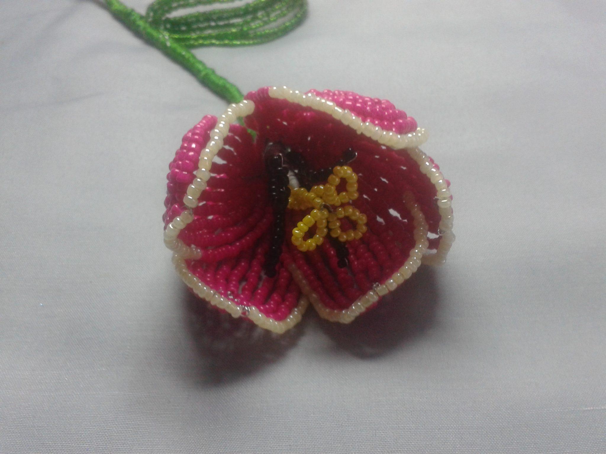 Бисерные тюльпаны