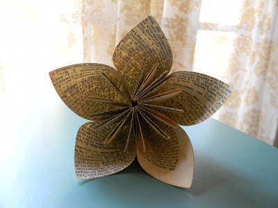 Винтажный оригами цветок