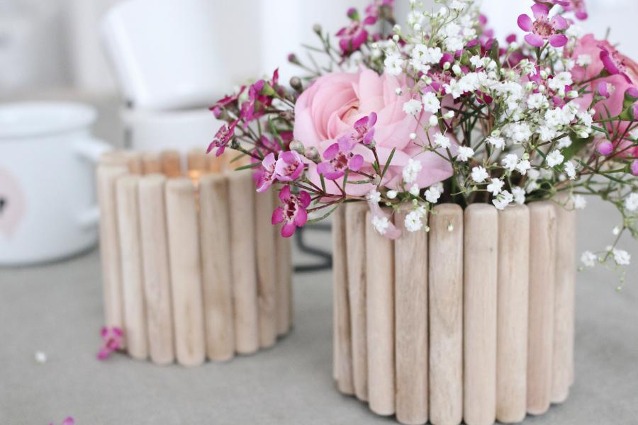 Как сделать вазу из банки - готовое изделие