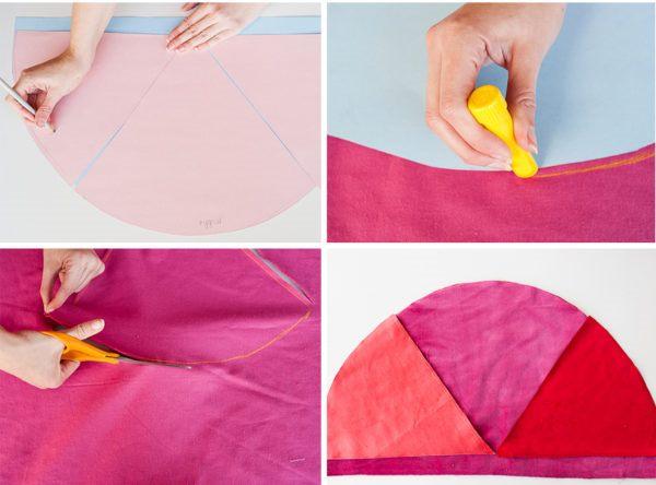 Как сшить декоративную подушку - вырежьте ткань