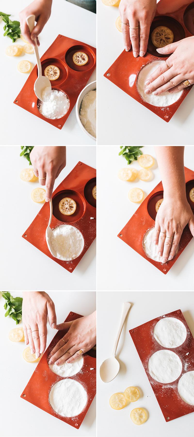 Как сделать бомбочку для ванны - заполните формы смесью