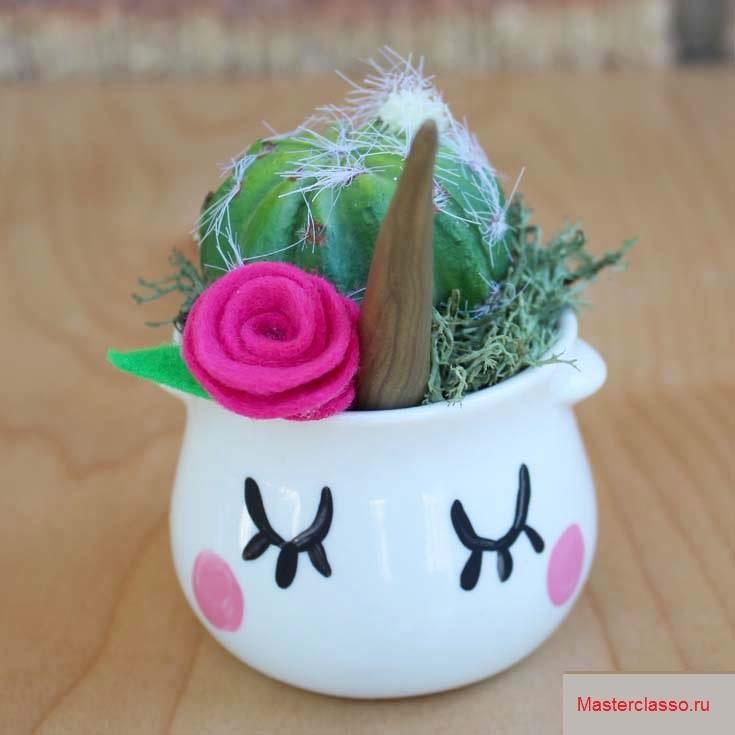 Декор цветочных горшков - украсьте цветами