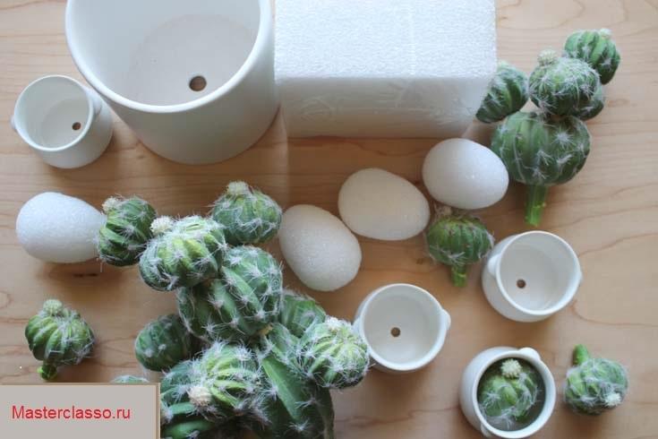 Декор цветочных горшков - материалы