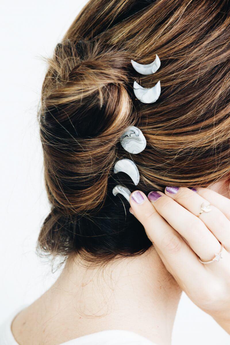 Украшения из полимерной глины - заколка в волосах