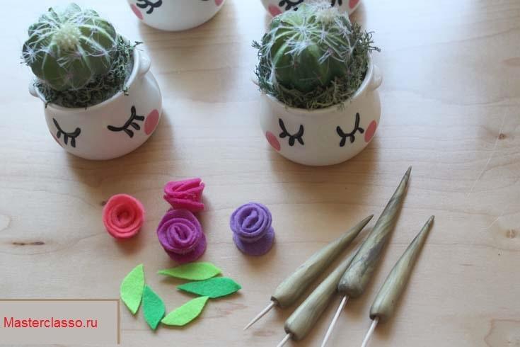 Декор цветочных горшков - украсьте маленькие горшочки