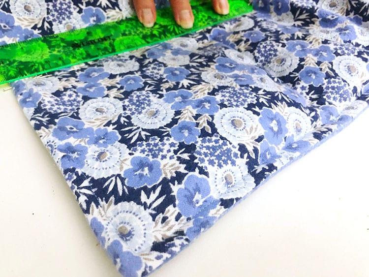 Утяжелённое одеяло - зафиксируйте поперечный ряд булавками