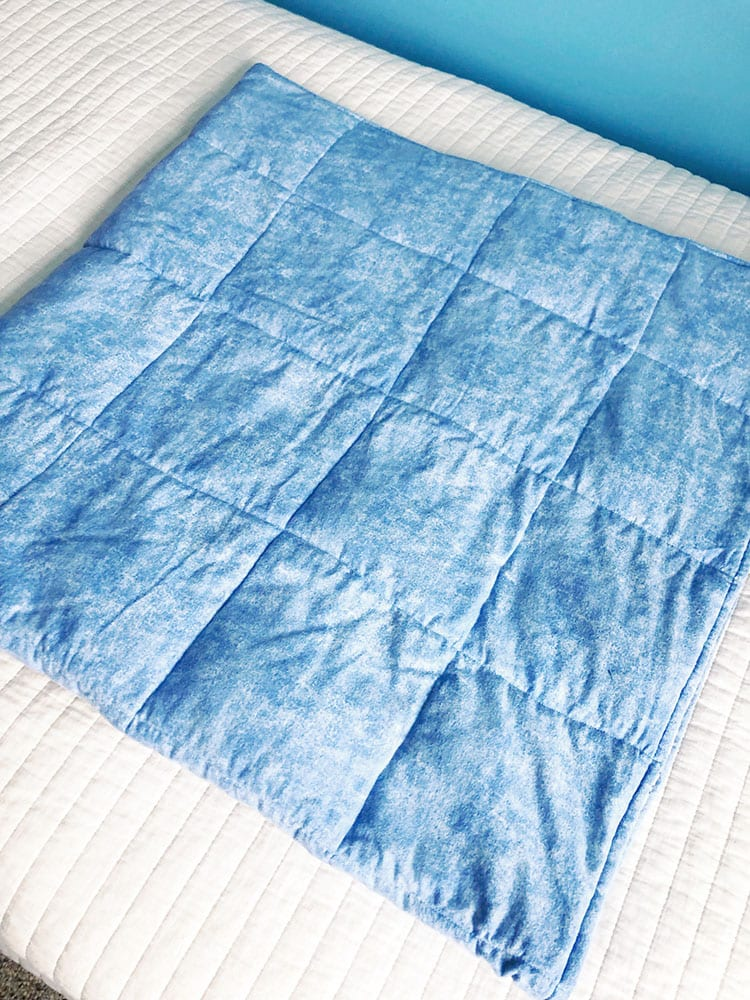 Утяжелённое одеяло - продолжайте формировать ряды