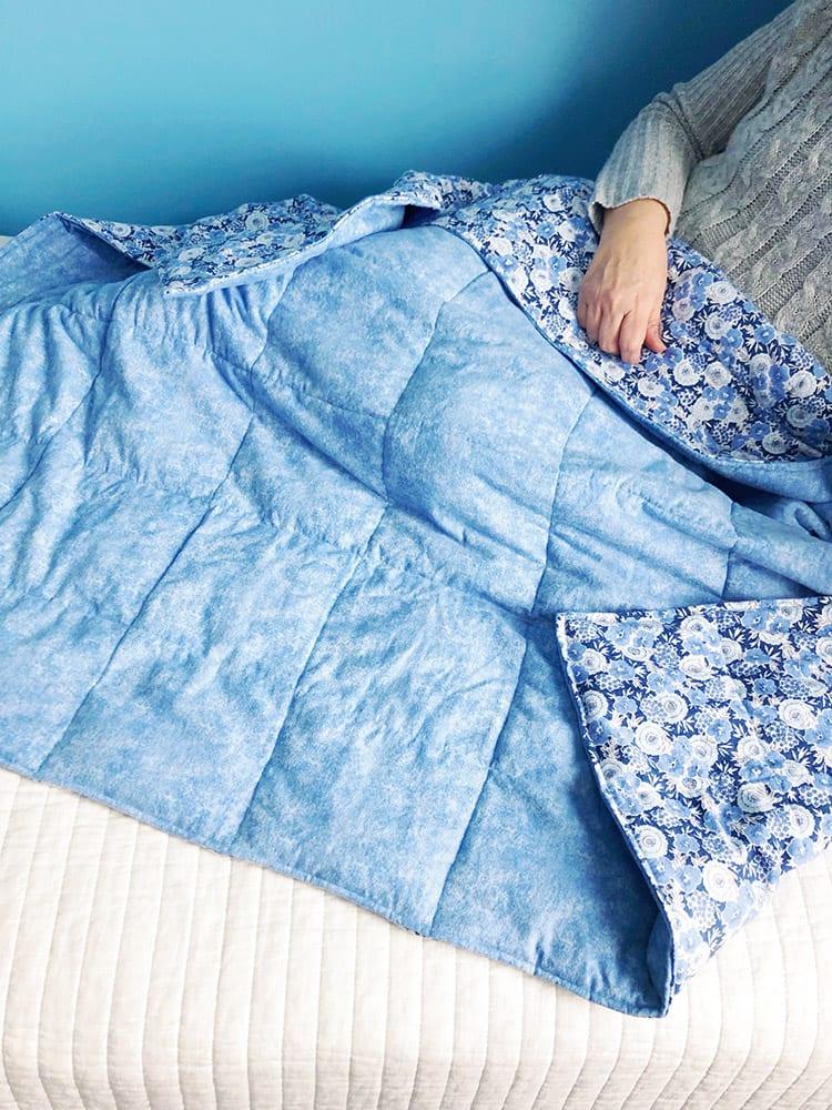 Утяжелённое одеяло - готовая работа