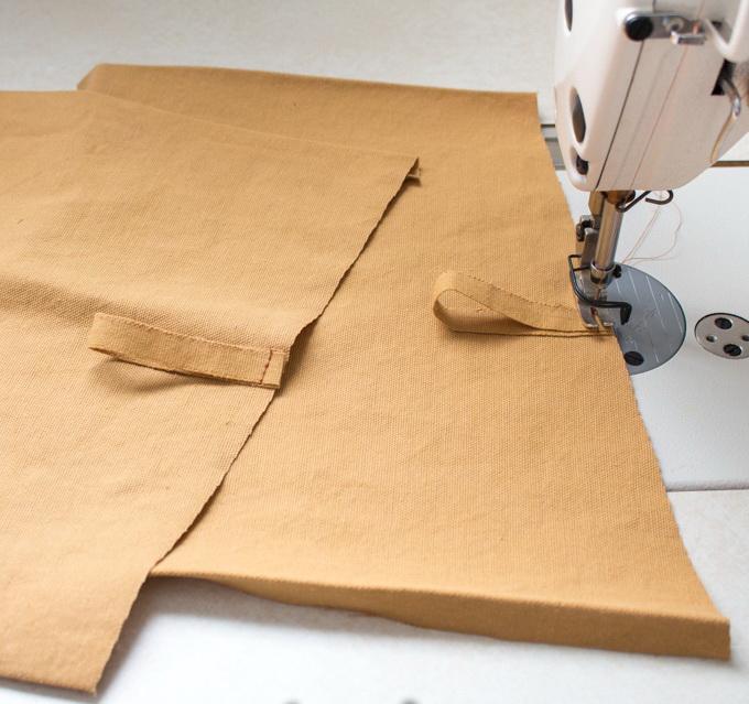Как сшить фартук своими руками - сформируйте петли для карманов