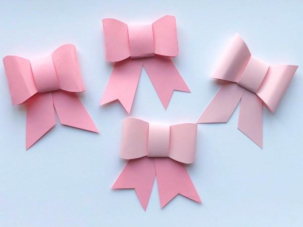 Елочные украшения из бумаги своими руками - сделайте несколько бантиков